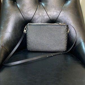 Black studded Express cross body bag